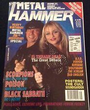 METAL HAMMER MAGAZINE DORO SCORPIONS POISON CHRIS CORNELL DEC 1991 BLACK SABBATH