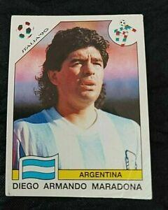 PANINI Original Italia 90 world cup soccer 1990  Sticker Maradona 128-