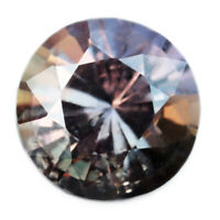 Certified Natural Unheated Multicolor Sapphire 0.56ct VS Clarity 4.82mm Round