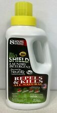 Bio Shield Laundry Detergent. 32 Oz. Repels Biting Insects, Ticks/Fleas/Bed Bugs