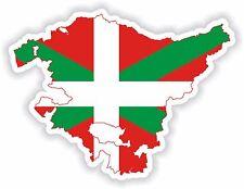 STICKER silueta País Vasco Pays Basque Country España Mapa Bandera Para Coche De Parachoques