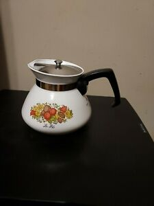 Vintage Corning Ware SPICE O of LIFE Teapot Tea Pot Kettle 6 cup  P-104
