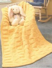 Baby Knitting Pattern Copy Knitted ARAN BLANKET  Easy Knitting
