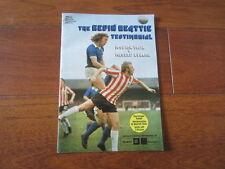 Ipswich Town Football Testimonial Fixture Programmes (1980s)