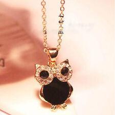 Retro Fashion Vintage Rhinestone OWL Long Chain Pendant Necklace Jewellery Gifts