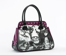 Rock Rebel Universal Monsters Collage Mummy Purple Trim Vegan Purse Handbag