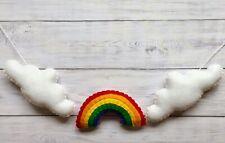 Handmade Felt Baby/Child's Nursery Bunting/Garland/Decor Clouds & Rainbow