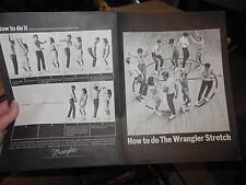 1964 HOW TO DO THE WRANGLER STRETCH - SHEET MUSIC & DANCE STEPS