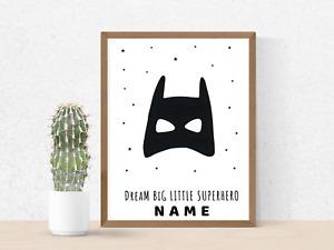 Superhero Batman Kids Poster Wall Art Print with  Bedroom Wall Decoration