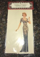 New CLAUDETTE COLBERT CELEBRITY PAPER DOLLS
