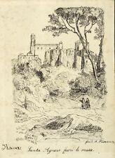 Roma/Rom Sant AGNESE FUORI LE MURA-A. Kurr-DISEGNO A MOLLA 1869