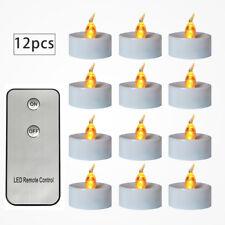 12x LED Teelichter mit Fernbedienung Teelicht Kerzen Flammenlos Party Deko