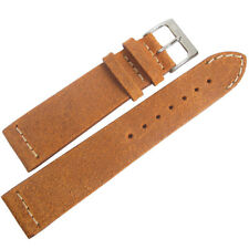 Brown Distressed Leather Watch Band Strap 18mm ColaReb Italy Spoleto Short Rust