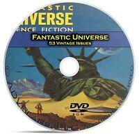 Fantastic Universe, 53 Classic Pulp Magazine, Golden Age Science Fiction DVD C52