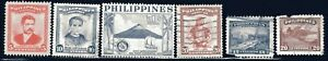 1950s Philippines Stamps  6-Lot Used