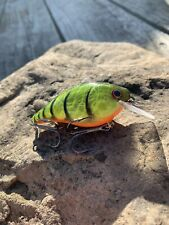 Custom Painted Lucky Craft RC 1.5 Wild Fire Craw Pattern Crankbait