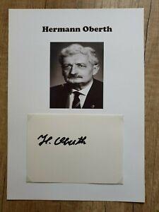 Hermann Obert (Raumfahrt), verstorben - Wunderschönes Originalautogramm DIN-A-4