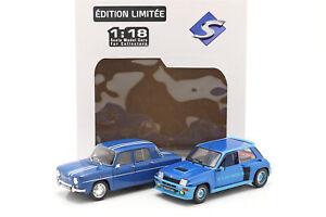 2-Car Set Renault R5 Turbo & Renault R8 Gordini blau 1:18 Solido