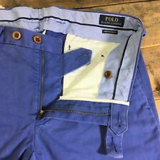 "Ralph Lauren POLO Smart/Casual Stretch Fit Trousers/Pants Blue Waist 30"" Leg 32"""