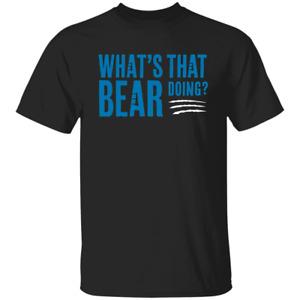 Men's What's That Bear Doing Carolina Panthers Football 2020 Black T-shirt M-3XL