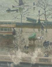 Emile Claus The Docks In The Rain Canvas Print 16 x 20   # 4857