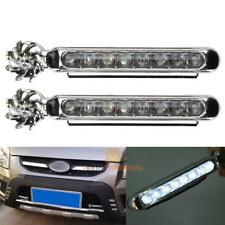2x Wind Power 8 LED Car Daytime Running Light Fog Lamp Car DRL Driving Day Light
