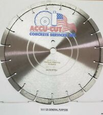 """14"""" Diamond Blade Made In Usa Pro Laser Welded Accucut brand concrete Cutting"""