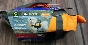 Top Paw Single Handle Life Jacket Orange X-Small   11-18 Lbs  #D-23