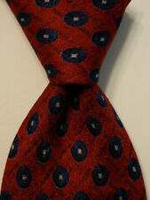 ERMENEGILDO ZEGNA Mens Necktie ITALY Luxury Designer Geometric Red/Blue/Gray EUC