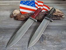 2er MESSER JAGDMESSER BOWIE KNIFE HUNTING CUCHILLO COLTELLO BUSCHMESSER