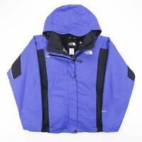 Vintage THE NORTH FACE HYVENT DL Blue Hooded Jacket Size Women's Medium