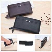 Solid Color Casual Bag New Storage Card Holder Coin Purse Double Zipper Men's