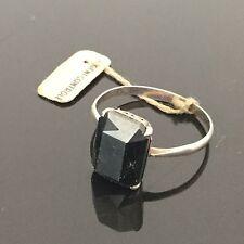 BAGUE Ancienne Art Déco 1920 en ARGENT MASSIF Hématite Silver Ring TTD 55
