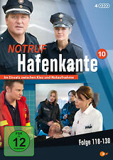 "4 DVDs * NOTRUF HAFENKANTE 10 (FOLGE 118-130) # NEU OVP """