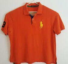 POLO RALPH LAUREN Mens Sz 3XB / Orange #3 Polo Shirt Yellow Big Pony S/S