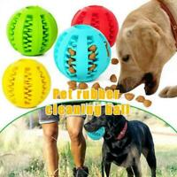 Dog Treat Ball Interactive Chew Resist Toys Teeth Cleaning Feeder Dispenser O0S5