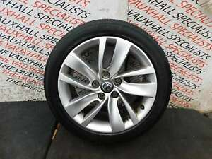 VAUXHALL INSIGNIA 09-16 SINGLE ALLOY WHEEL + TYRE 245-45-18 AACU V829 *SCUFFS*