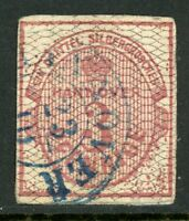 Germany 1856 Hannover 3pf Rose & Grey SG # 11 VFU G166