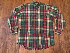 Vintage CABELAS L/S Plaid Flannel Hunting Buttonfront Shirt Size M