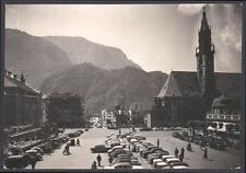cartolina BOLZANO piazza walter e parrocchia