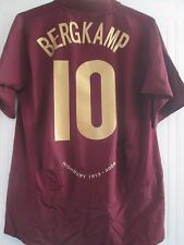 Arsenal 2005-2006 Bergkamp Johannisbeere Football Shirt LARGE Trikot/40984