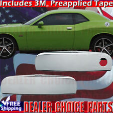 For 2011-2018 DODGE CHALLENGER Chrome Door Handle Covers Overlays Trims 2 Pieces