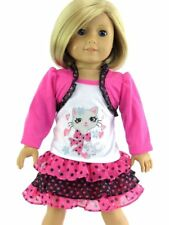 Perfect Kitty Mixed Media Skirt Set 18 in Doll Clothes Fits American Girl Dolls