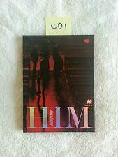 "HISTORY AUTOGRAPHED ""HIM"" Heart Ver. Album CD signed KPOP"