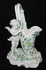 SITZENDORF GROUPE ANCIEN 19 ème ANGE & VASE porcelaine de Saxe 1887-1900