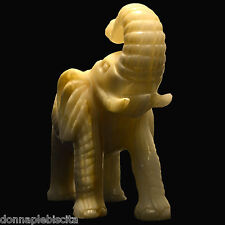 Scultura Elefante Statua in Onice Carved ELEPHANT Animal figures Onyx Sculpture