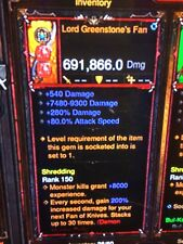 DIABLO 3 con MOD PRIMAL ANTICO DEMONE Hunter ARMA Bundle più alto DPS XBOX ONE