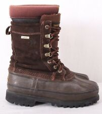 Cabelas Brown Lace Up Steel Shank Duck Rain Insulated Snow Boots Men's US 7M