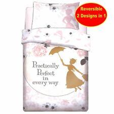 New Disney Mary Poppins Single Duvet Quilt Cover Set Girls Kids White Bed Gift