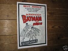 An Evening with Batman and Robin 1960s Repro POSTER